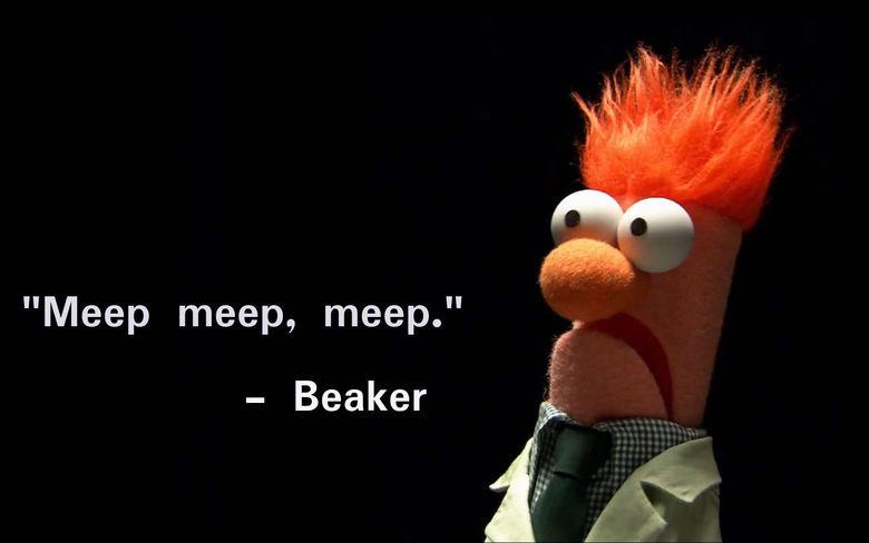 "I Made A Poem. . Meep reteip, meep."" Beaker jjc,. 10/10 would read again"