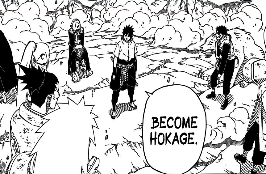I want to.... WHOT? What are you smoking, Kishimoto?.. i actually think he would make a better hokage than naruto, but the next hokage has to be kakashi