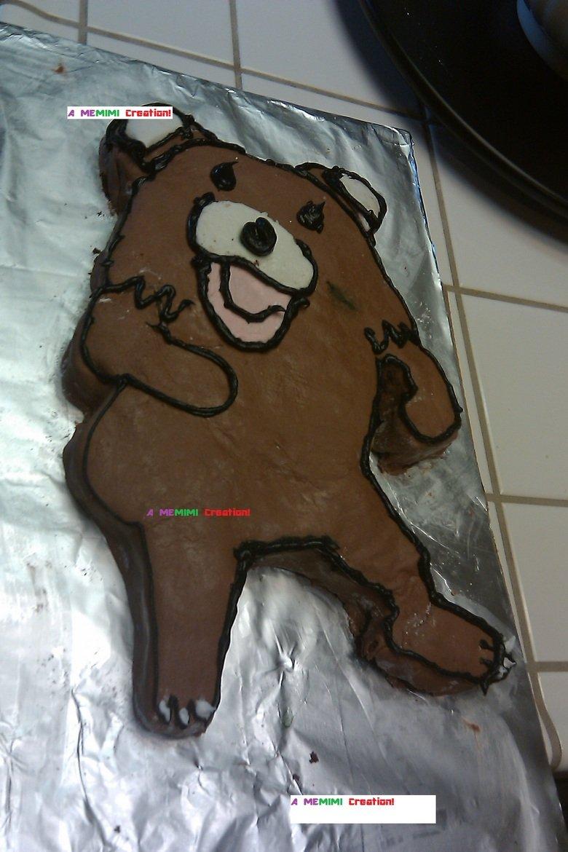 I Made a Pedobear Cake!. I made this for my best friend's birthday. I hope you enjoy. .