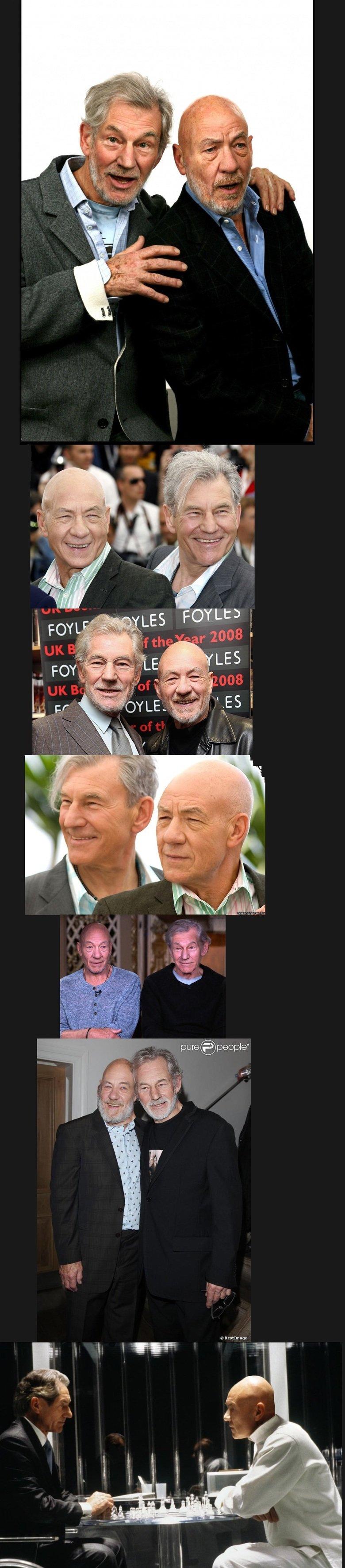 Ian McKellen & Patrick Stewart face swap. .. it still looks so legit....