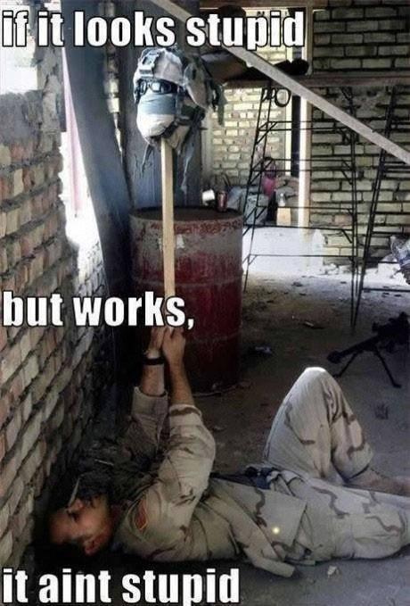 If it aint broke,. Don't fix it.. It aim. But it still looks stupid.
