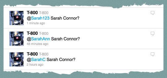 If Terminator was made now. . Sarah Banner'? 1 . irure ago BOO Sarah '? 15 ago Sarah Banner'?. Sarah Conner?