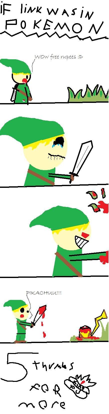 If Link was in pokemon?. If link was in pokemon?.. M-make moar! ^_^