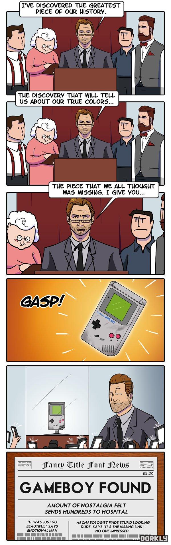 In ten years. .. couldn't resist Gameboy
