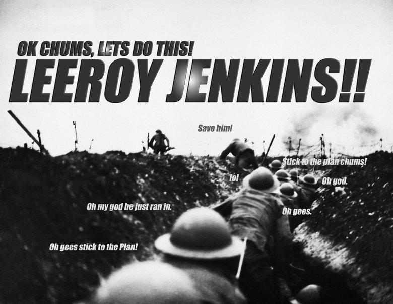 In memory of leeroy jenkins. 1982-2011.