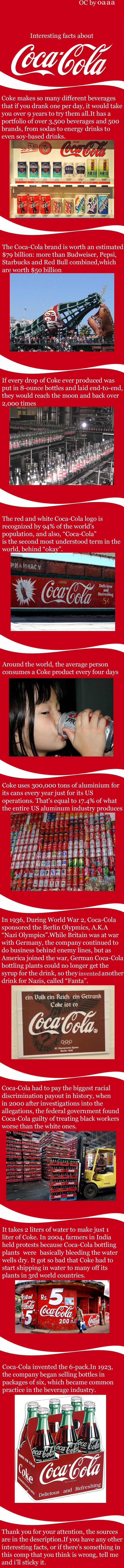 interesting coca cola facts. .