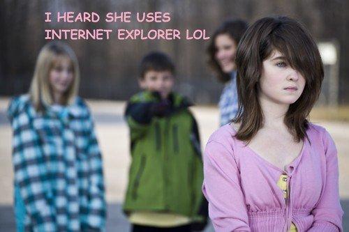 Internet Explorer. .. so old