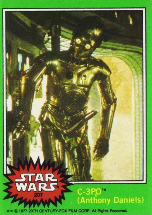 is legit. '80s starwars trading card. I (Anthony Daniels). Hurry up Goldenrod CPO boner legit tags
