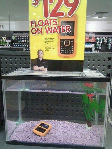 it floats!. fail.