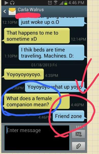 It means friend zone. .