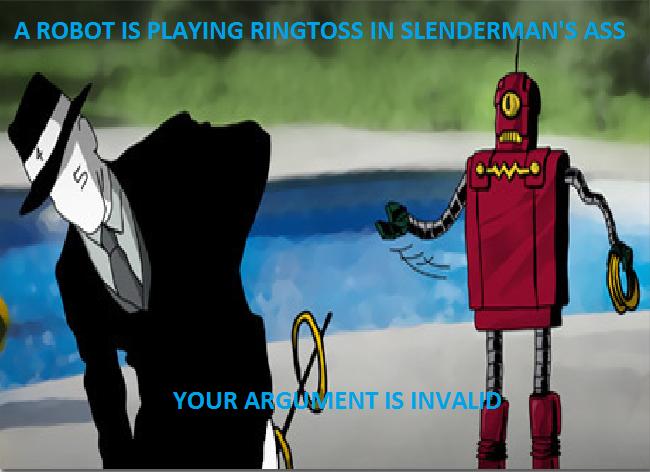 It's a sex toy. True story. Slenderman Robot ringtoss sex Toy