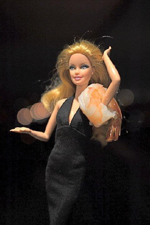 It's a shrimp on a barbie. .. Nope