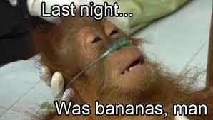 It was..... . I Last night... Cd was bananas, man