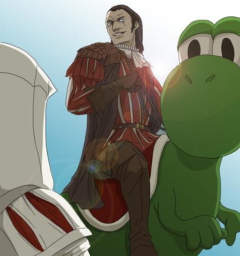 "Iz a me, Mario!. .. Blew my mind when he said this in ac2: ""Ezio, don't you recognize me? Itsa me, Mario!"