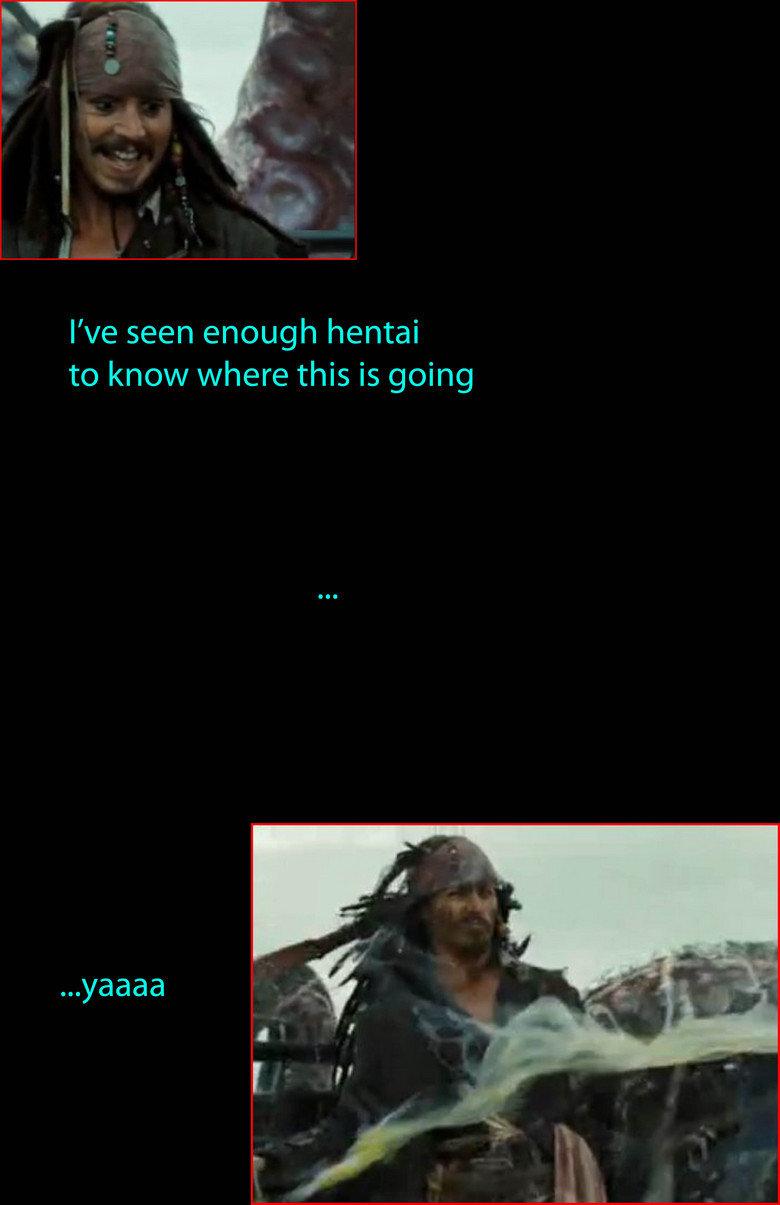 Jack Sparrow vs. The Kraken. first upload, 100% oc.. thats... kinda sick really. jack sparrow hentai kraken happy end