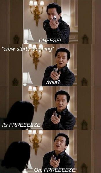 Jackie Chan, Bloopers. . FHF' EWEEZY: