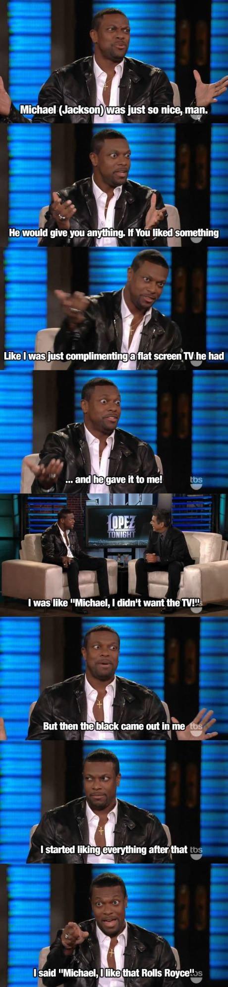"Jackson 5. Source: Talk show. Michael (. was just SOI nice, main. He would ""if/ ts it , iraniie something Like I "" l? iust -ii' Fiat screen'_ w he had I was) li"