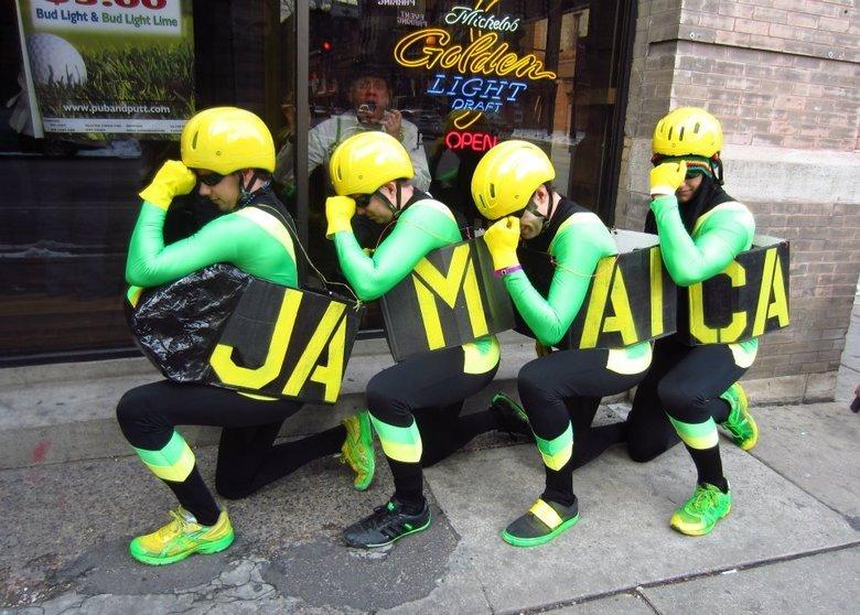 Alfa img - showing jamaica bobsled team back