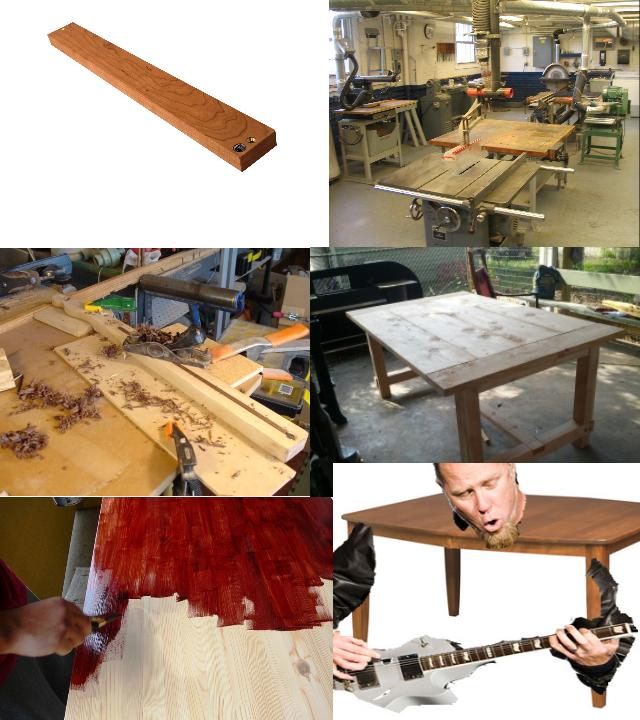 James Hetfield Growing Up. He is the table.