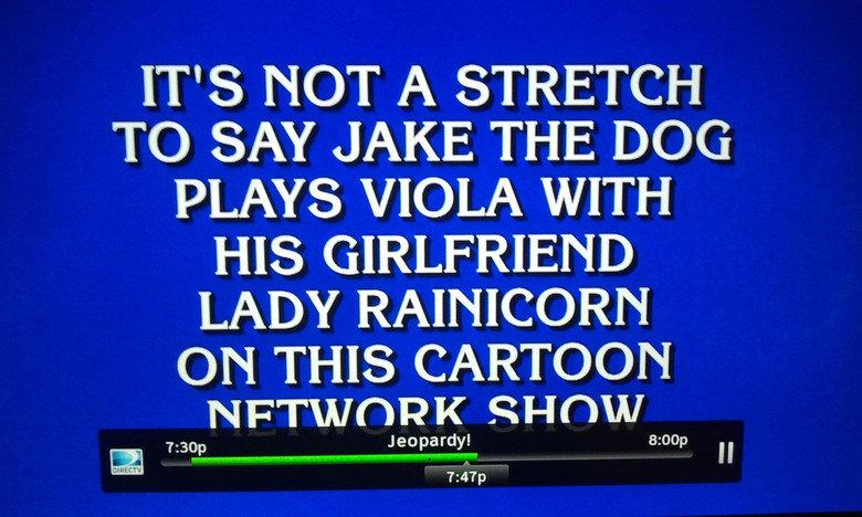 """Jeopardy. . Tti) _r, THE lati) tii VIOLA WITH HIS GIRLFRIEND LADY ) Rottie THIS ). hehehe """"Stretch"""" jeopardy jake LR viola"""