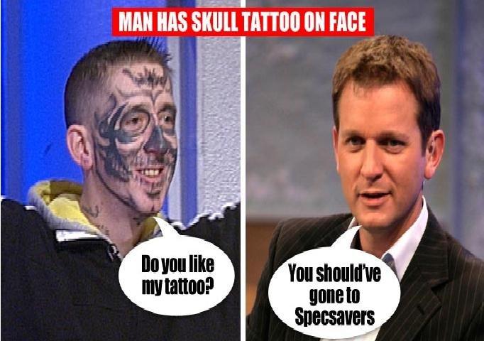 jeremy kyle meets skull man. jeremy kyle meets skull man.. this is skullduggery jeremy kyle meets skull man