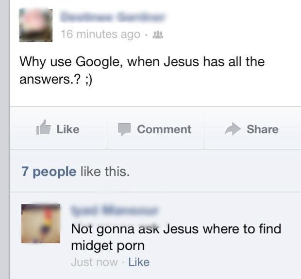 Jesus. Not OC. still funny doe