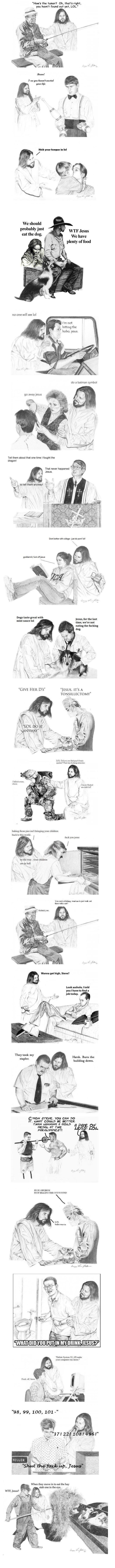 Jesus is a jerk comp.. Part 2: funnyjunk.com/funny_pictures/2869468/Jesus+is+a+jerk+Comp+Part+2/ EDIT: Front page, you guys rock. Jerk Jesus be with you.. Howls Jesus