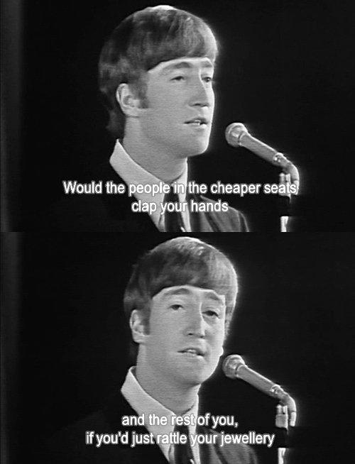 John Lennon talking to public. .