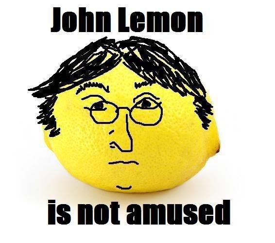 john lemon. . Birk at PAA,. looks like a Wii avatar John Lennon lemons Not amused
