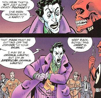 Joker is no Nazi. . WET BE. it all makes sense now. The Joker is PRESIDENT ANDREW JACKSON!