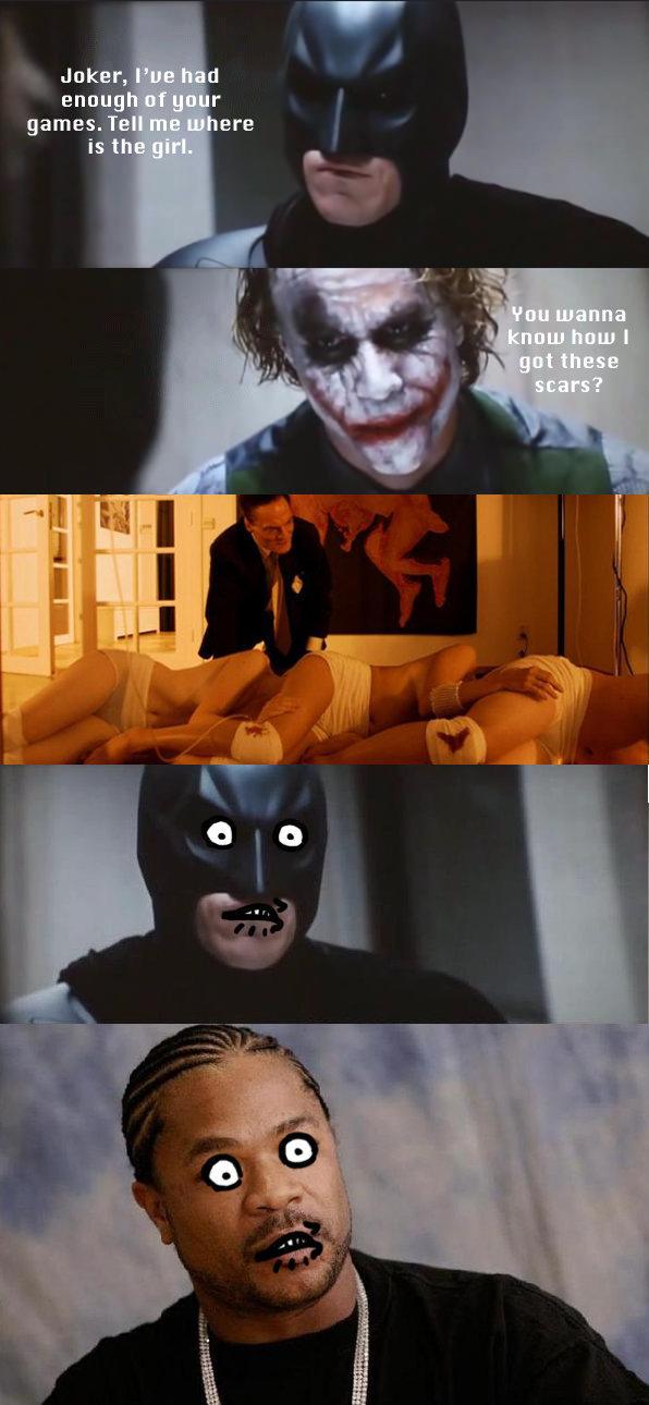 Jokers scars. Oh yeah bitch!. scars joker centipede