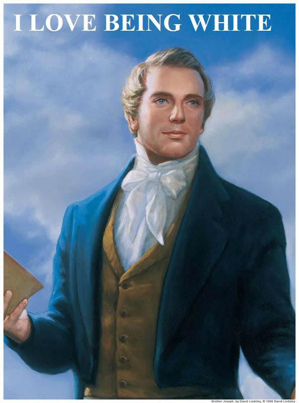 Joseph Smith, Early Mormon. . BEING WHITE