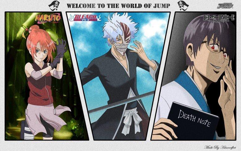 jump. gintama cross overs. Gintama Naruto Bleach DeathNote Jump Gay people