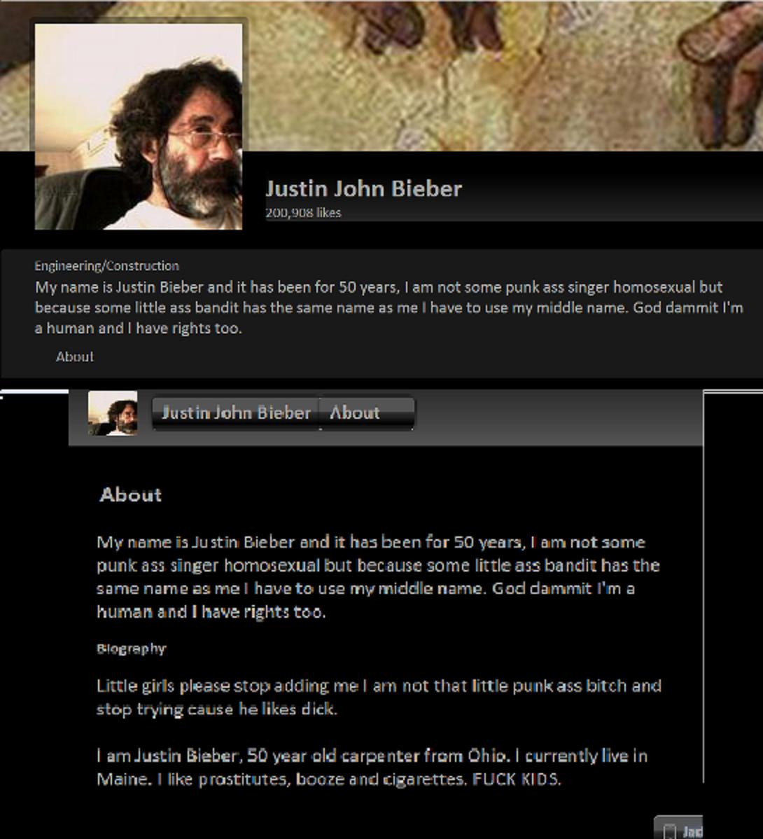 Justin John Bieber. .. YES.