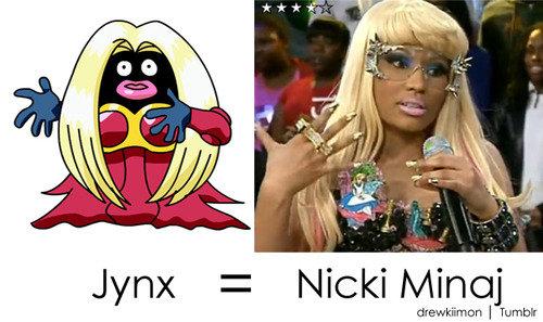Jynx Nicki Minaj LookaLike. quite racist but i lol'd. Jynx = Nicki in I Tantum: