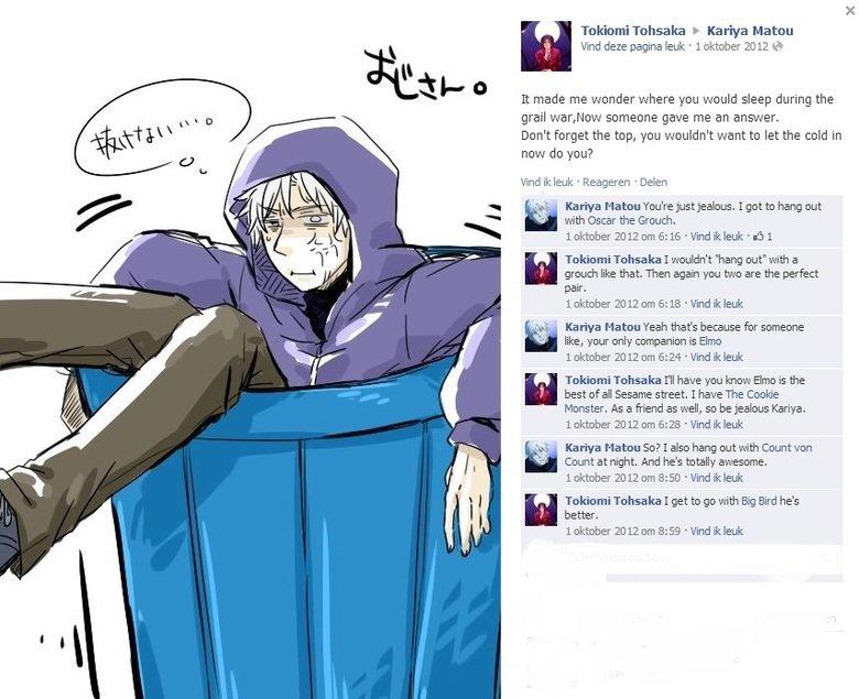 Kariya VS Tokiomi. Source is Fate/Zero. Tokiomi Tohsaka F I{. er' rya Elston Vind den pagina leuk . 1 oktober 20 lil 1: 3 It made me wonder where you would slee