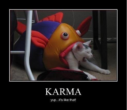 Karma Is a Bitch. Karma Is A. KARMA yup. .it' s like that!