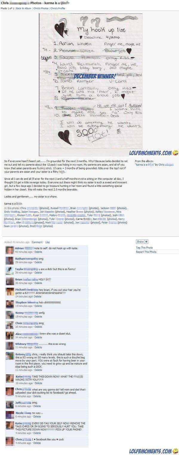 Karma. It sucks, doesn't it?. Trig ? lust; f / Hpyno Emu jab . ban? and mam til aim Hum an hm» flab's thoughted : : ent pri, Jaxxer-, h: -, neather_ hohos), Ars facebook karma Revenge Beer