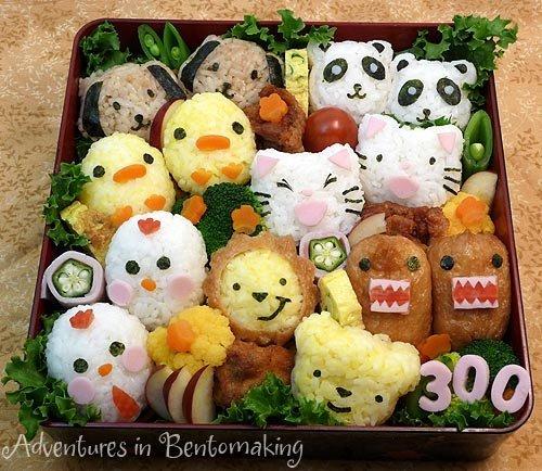 Kawaii bento. Like Akina Nakamura on Facebook!!! www.facebook.com/pages/Akina-Nakamura/391810887536586.. I want to eat it... so badly...