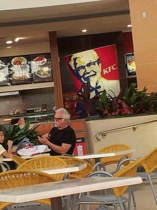 KFC. yeah.. KFC around where I live has closed down. :(