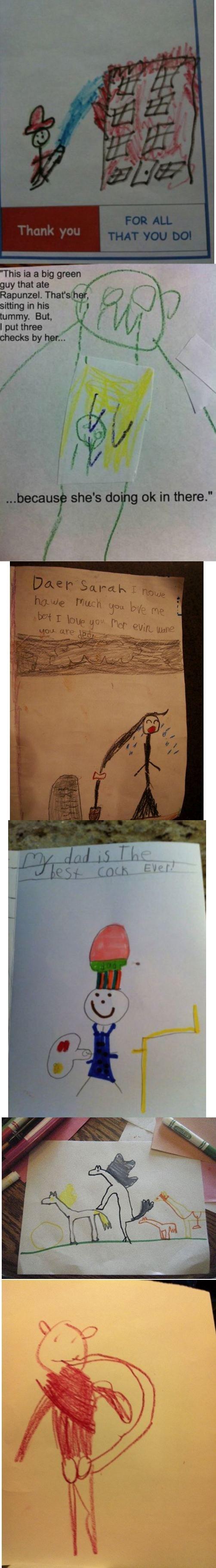Kids these days.... source_ www.smosh.com/smosh-pit/photos/15-hilariously-disturbing-drawings-little-kids.