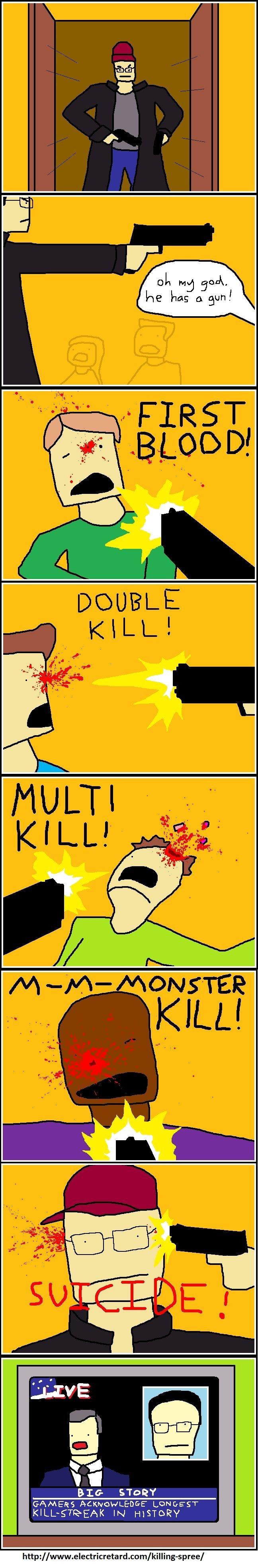 Killing spree. . BIG NEUEN GAMERS A electricretard xom/ /