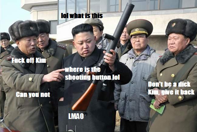 Kim on guns. .