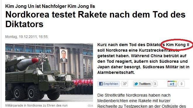 Kim Kong. According to a german newspaper he is now Kim Kong! All glory to the mighty Kong! Source: www.focus.de/politik/ausland/kurz-nach-dem-tod-kim-jong-ils- kim jong il Kim Kong