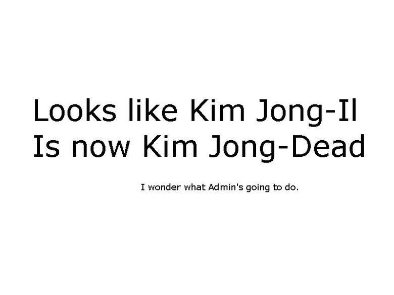 Kim Jong il. More OC..
