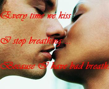 Kissing. .