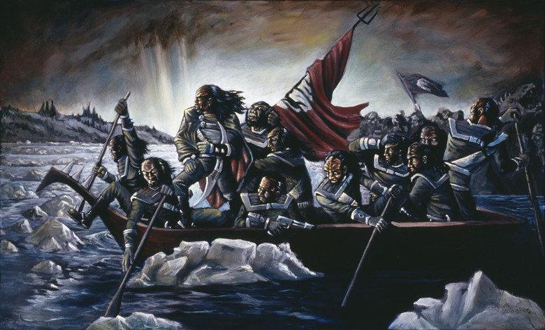 Klingon's Crossing The Delaware. .. NOOOOOOOOOOOOOOOOOOOOOOO!