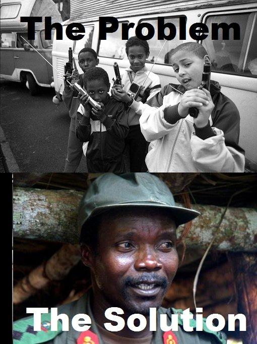 Kony 2012. .. OP is hot. I promise you. gangster kids problem punk Kony