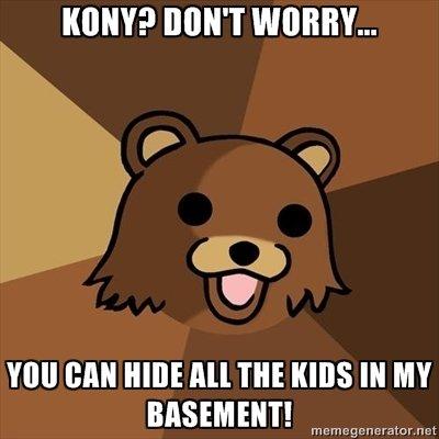 Kony bear.. Derp?. Hill Mit HIM All THE I( IN MY INT! m cm if . ratter. t? cl Kony pedobear