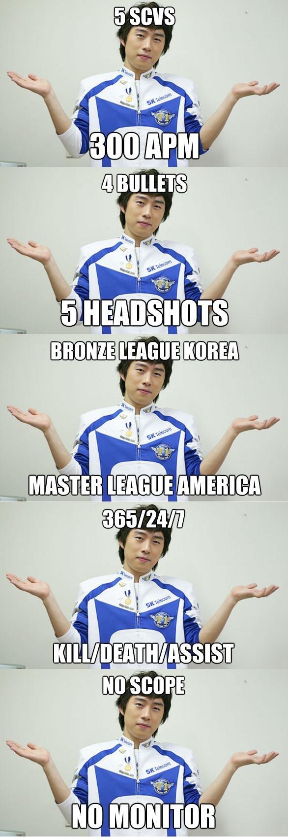 Korean Gamer meme. .. worst at math in korean class 4 years ahead of american classes